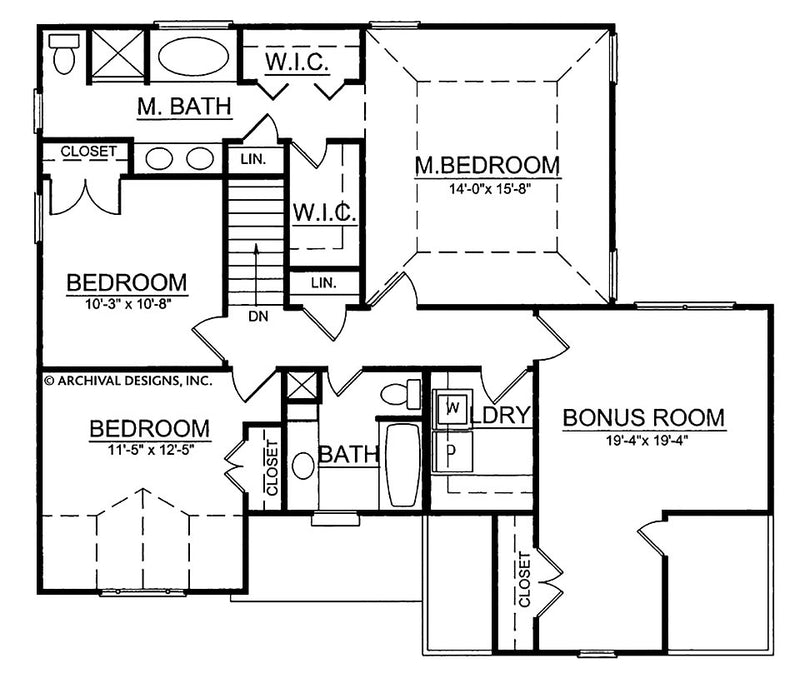 Scottsdale second floor, floor plan
