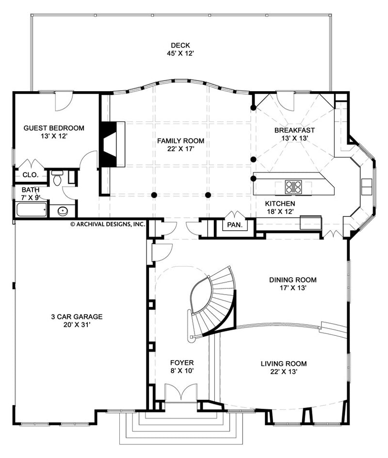 Serrantae first floor, floor plan