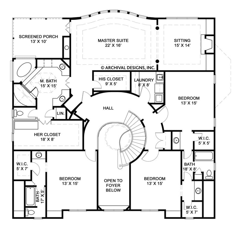 Serrantae second floor, floor plan