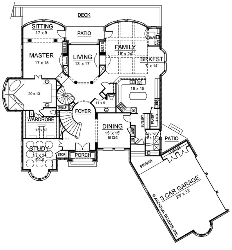Shadow Creek first floor, floor plan