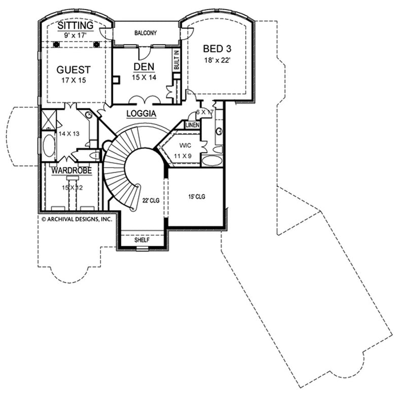 Shadow Creek second floor , floor plan