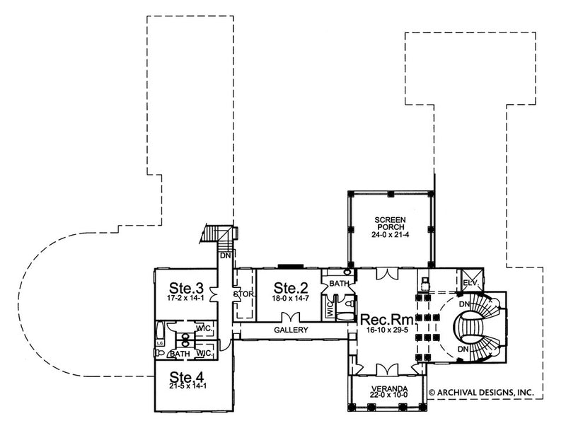 Shrewsbury second floor, floor plan