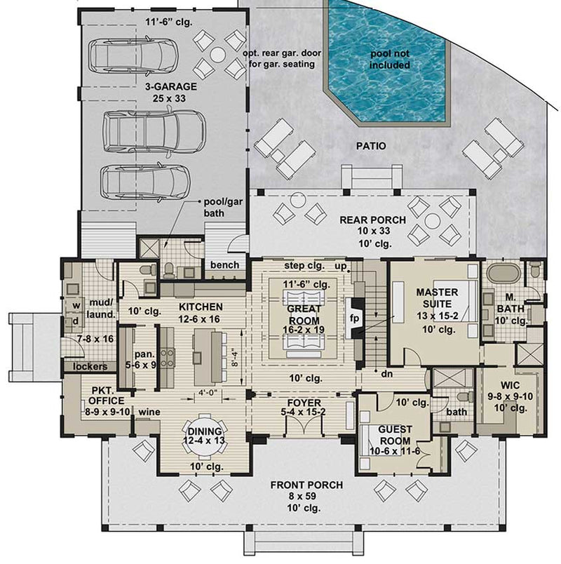 Silverbell Ranch, first floor plan