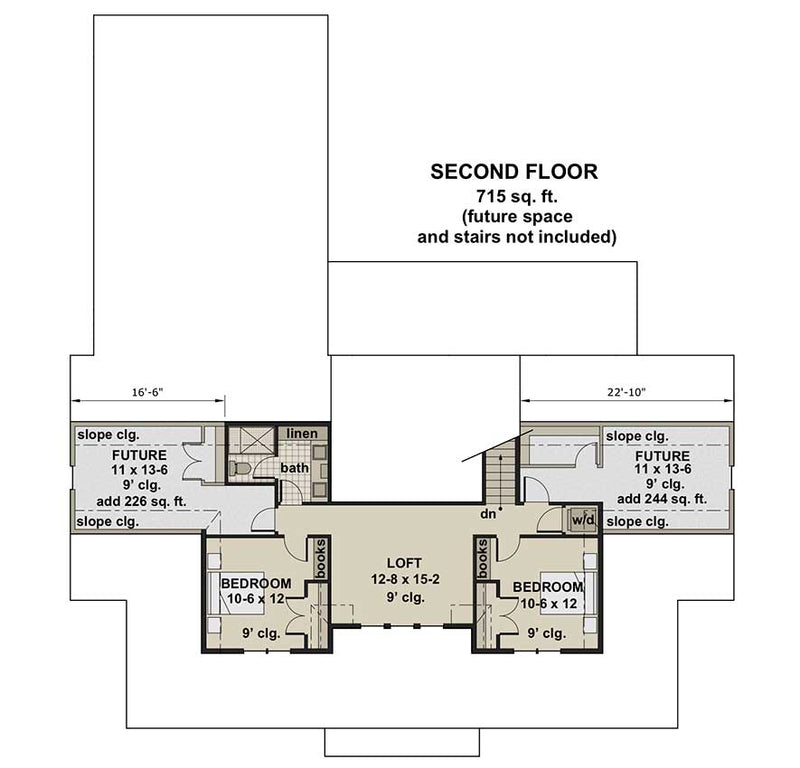 Silverbell Ranch, second floor plan