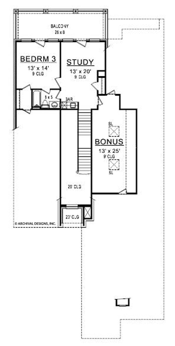 Silverton second floor, floor plan