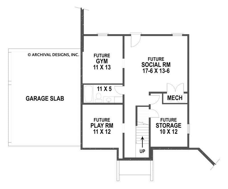Spreading Oaks basement floor plan