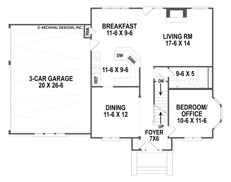 Spreading Oaks first floor, floor plan