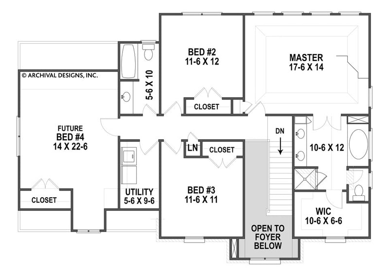 Spreading Oaks second floor, floor plan