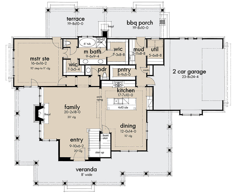 Spring Creek Farm, first floor plan