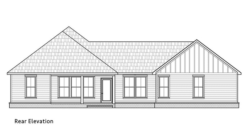Spruce Pine House | Rear Elevation