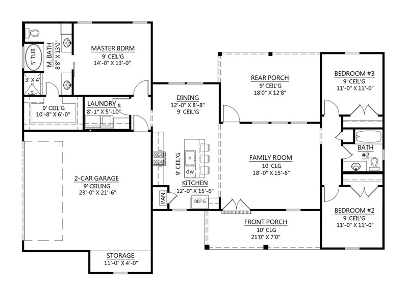 Spruce Pine House | First Floor Plan