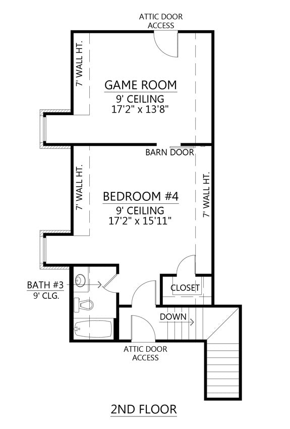 Squire Creek House | Second Floor Plan