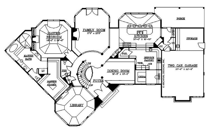 Stone Park first floor, floor plan