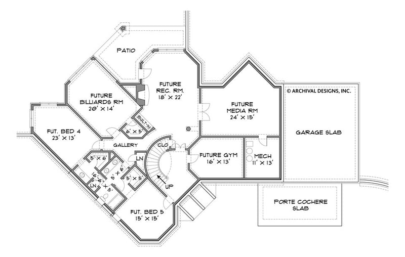 Stone Pond basement floor plan
