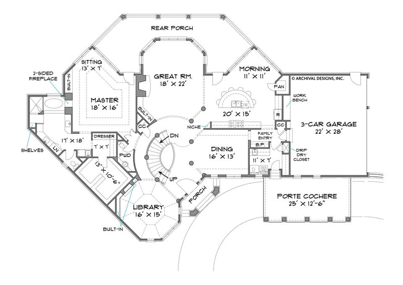 Stone Pond first floor, floor plan