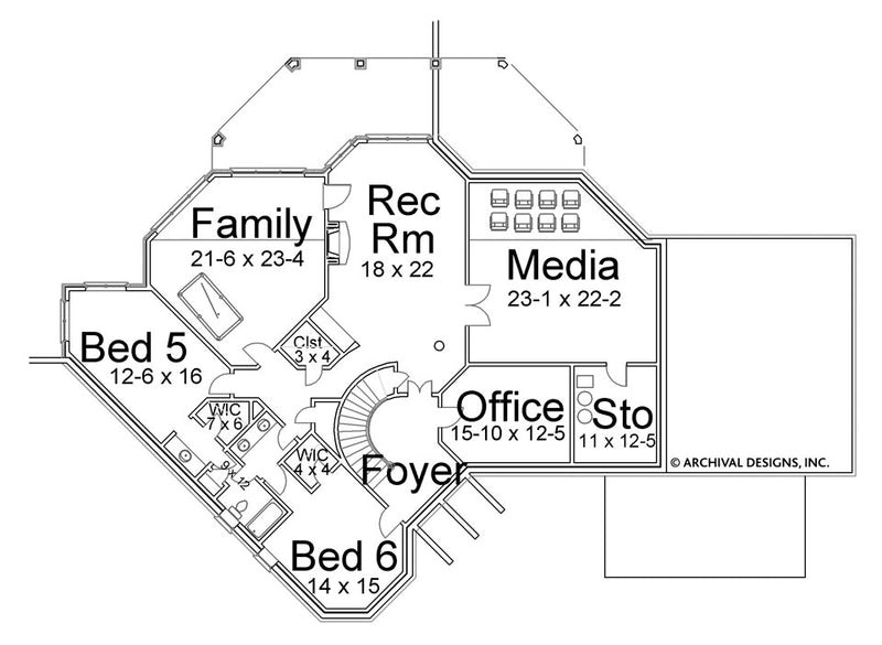 Stone Ridge basement floor plan