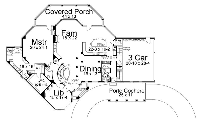 Stone Ridge first floor, floor plan