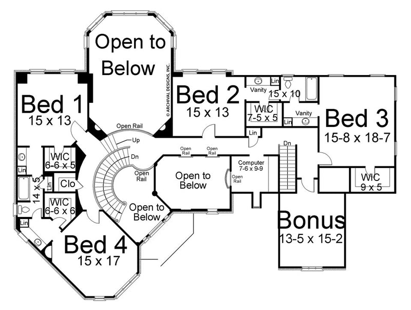 Stone Ridge second floor, floor plan