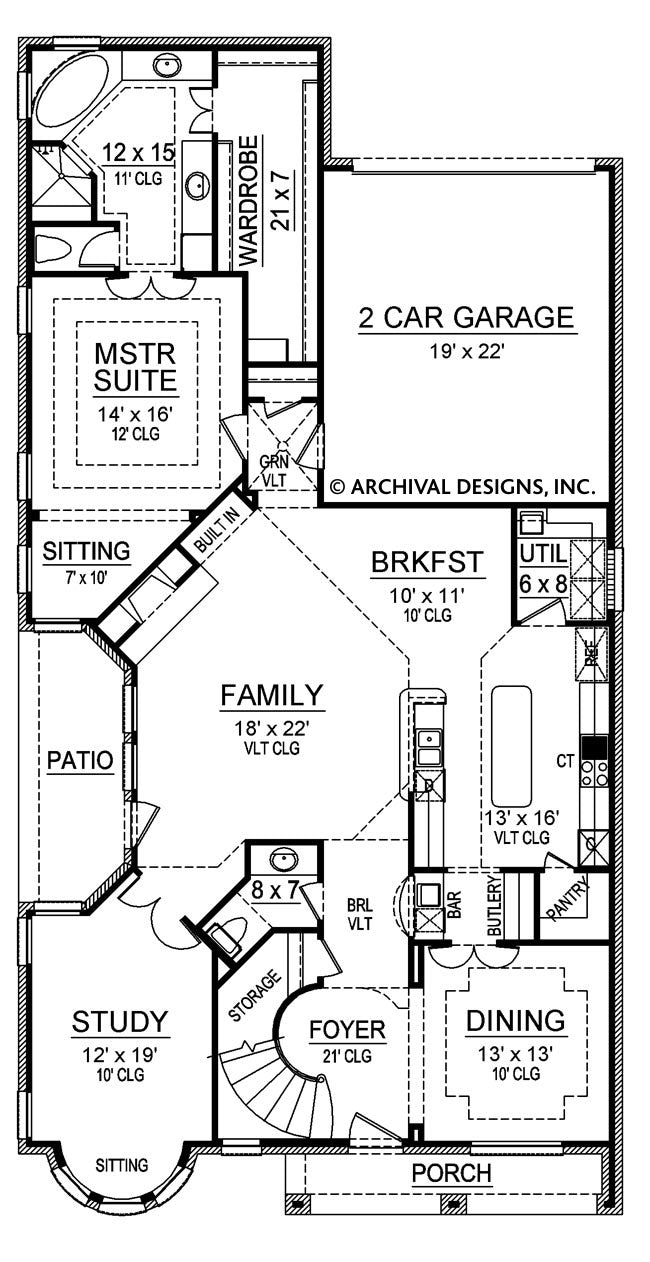 Stoney Meadow, first floor plan