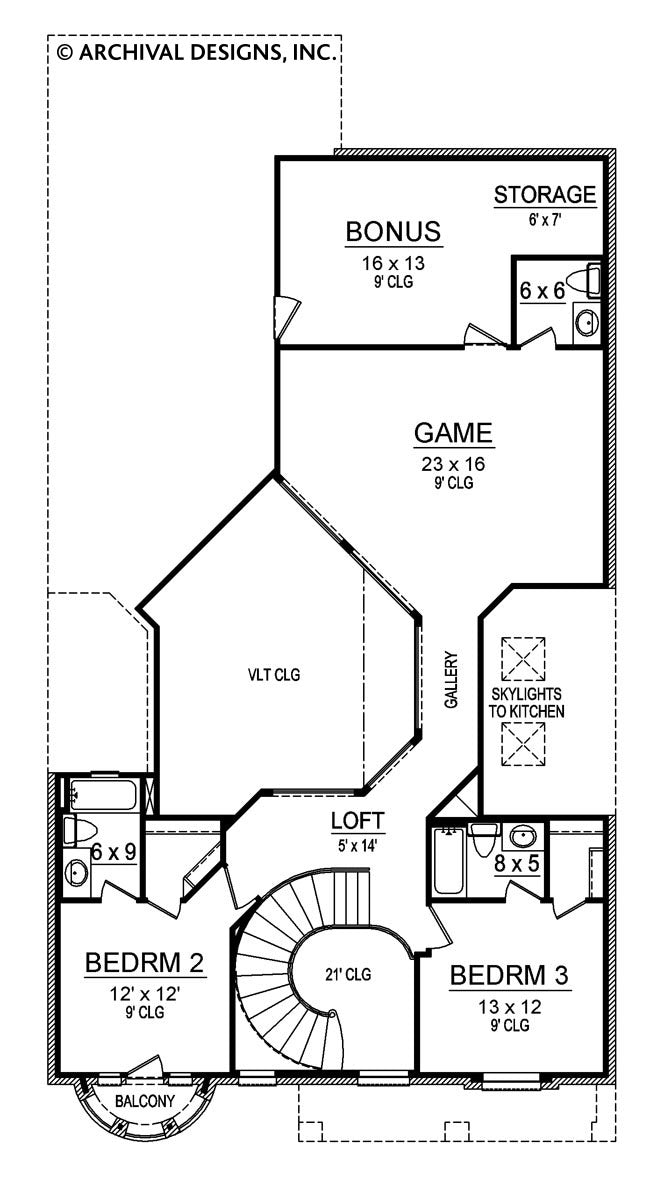 Stoney Meadow, second floor plan