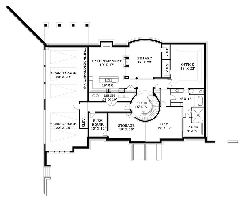 Strathmore Hall basement floor plan
