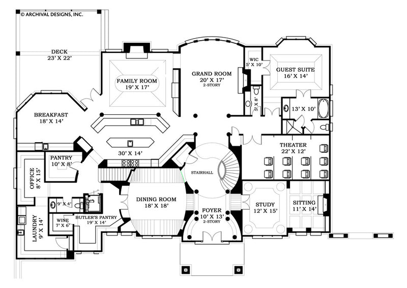 Strathmore Hall first floor, floor plan