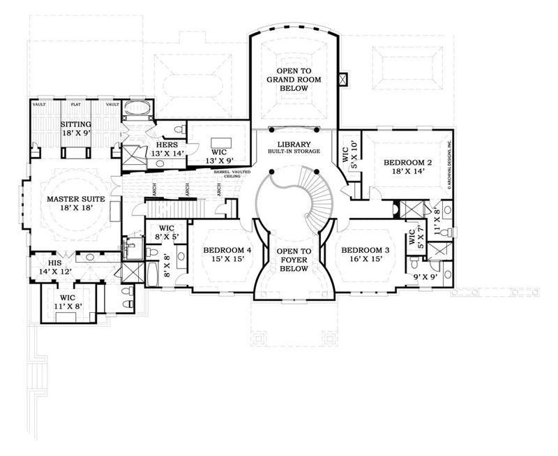 Strathmore Hall second floor, floor plan
