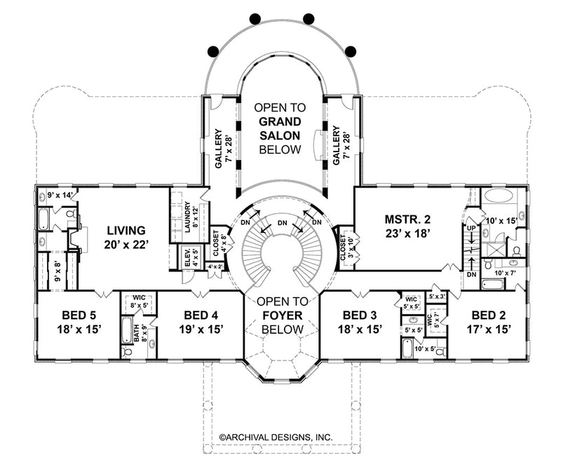 Sussex House second floor, floor plan