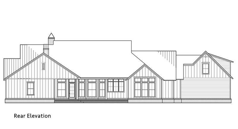 Tanglewood Farmhouse | Rear Elevation