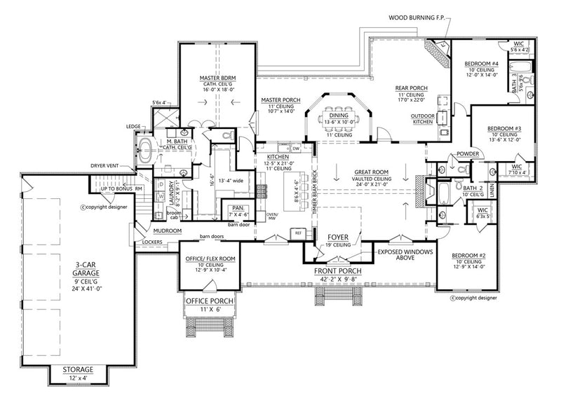 Tanglewood Farmhouse | First Floor Plan