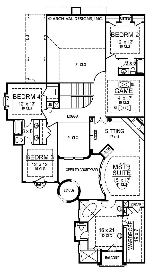 Teres Porta second floor, floor plan