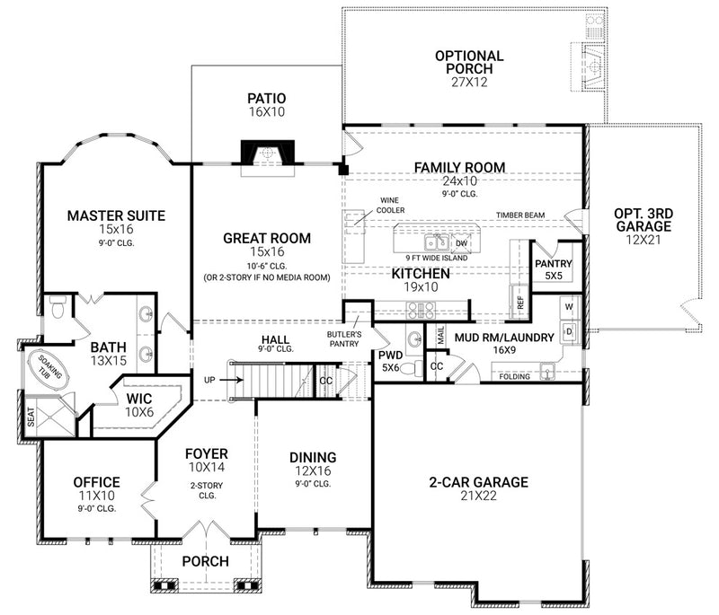 Tillman Falls first floor, floor plan
