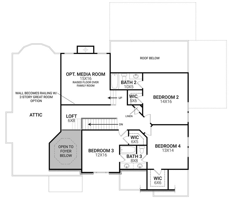 Tillman Falls second floor, floor plan