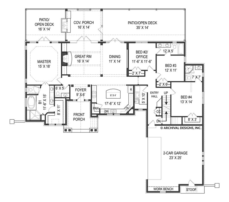 Tilly first floor, floor plan