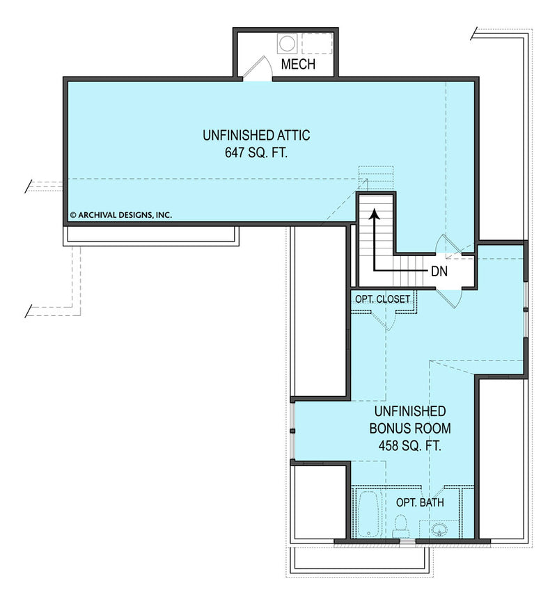 Tilly second floor, floor plan