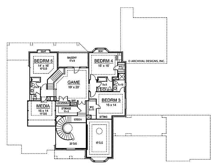 Tottenham second floor, floor plan