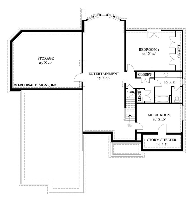 Tulip Hill basement floor plan