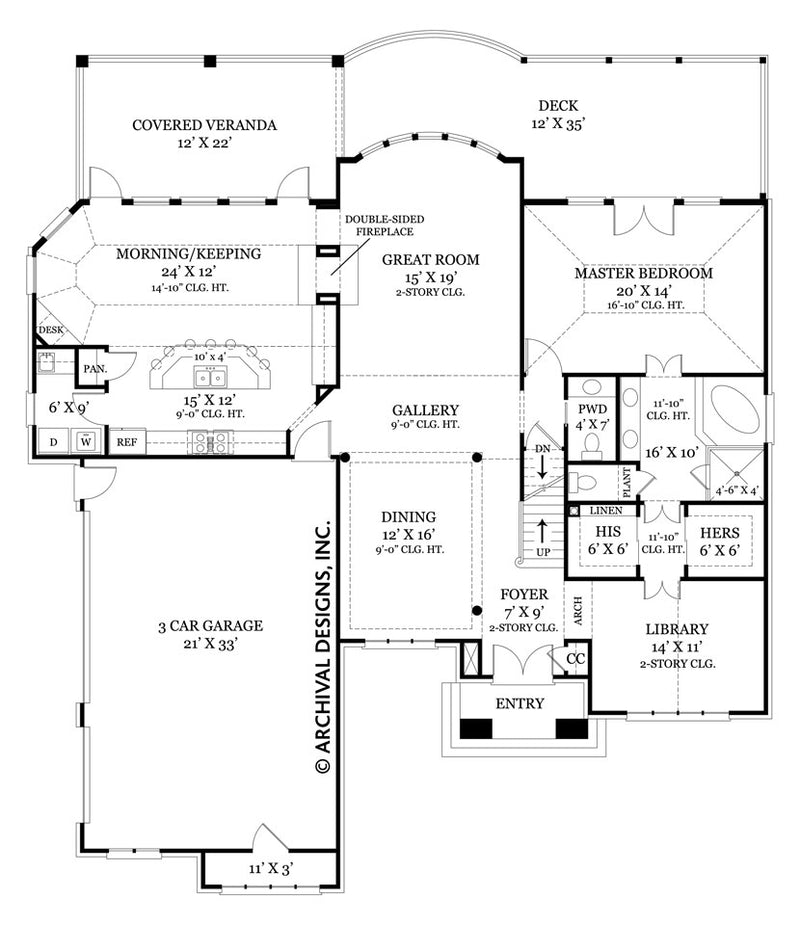 Tulip Hill first floor, floor plan