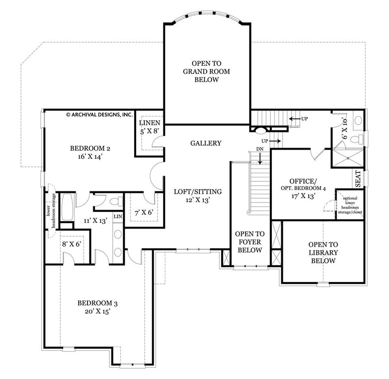 Tulip Hill second floor, floor plan
