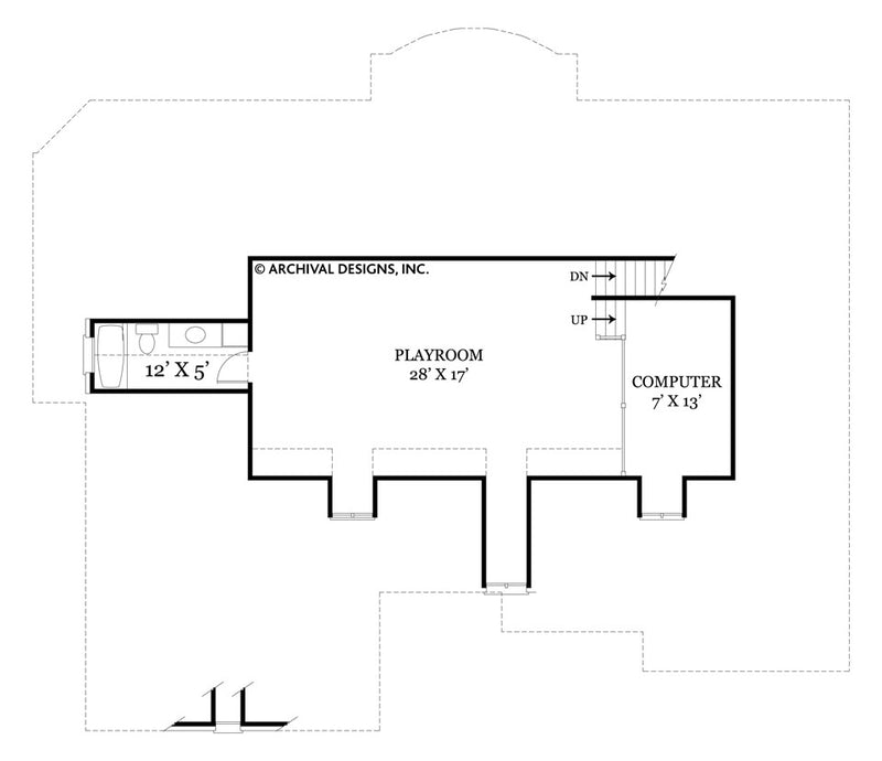 Tulip Hill third floor, floor plan