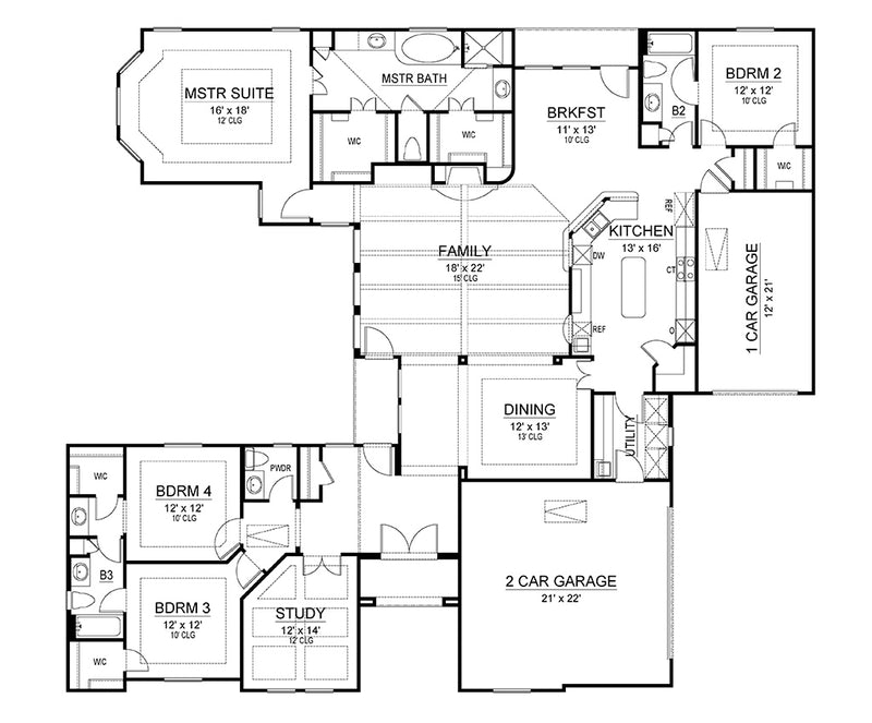 Tulip Lane, first floor plan