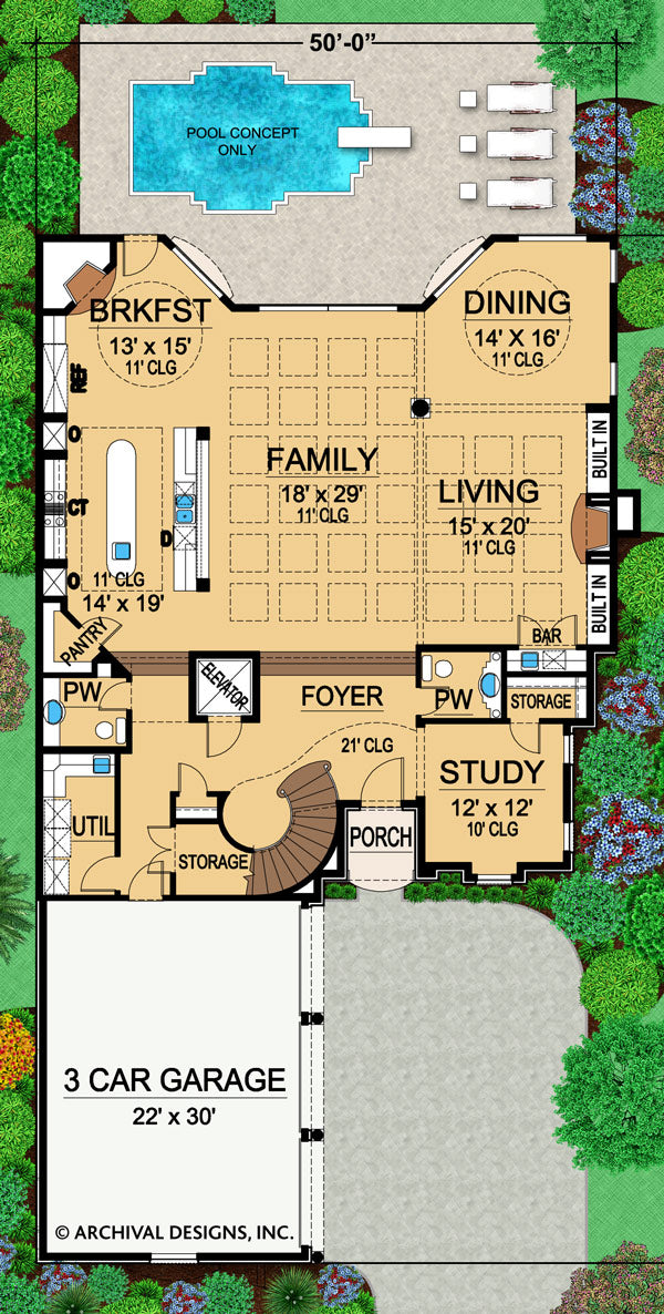Vayres first floor, floor plan