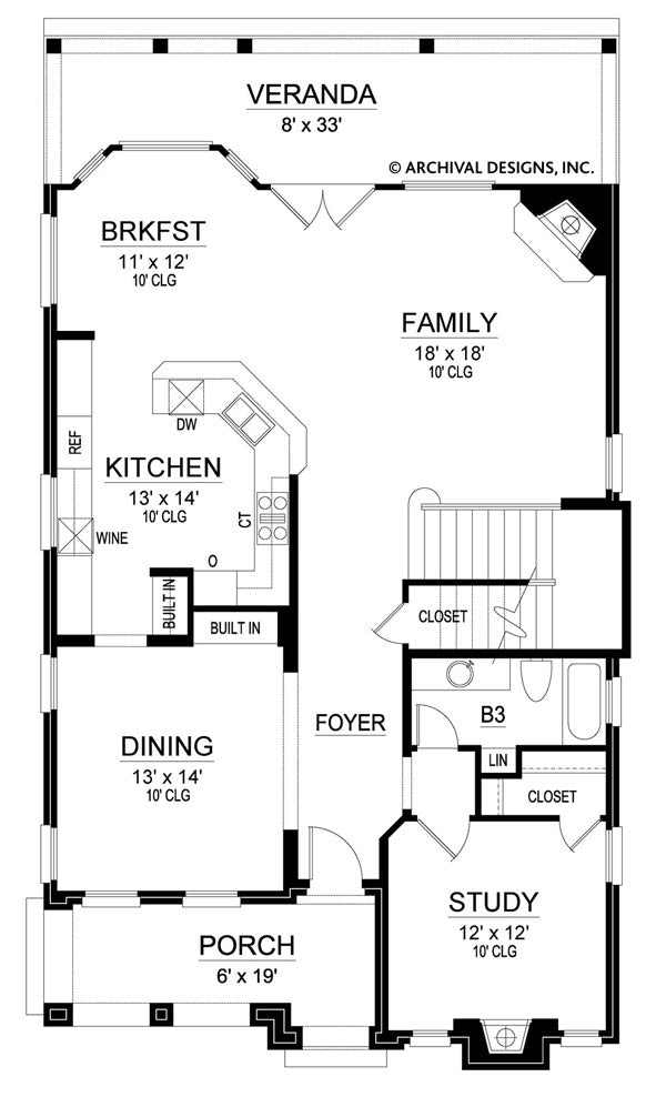 Victoria  first floor, floor plan