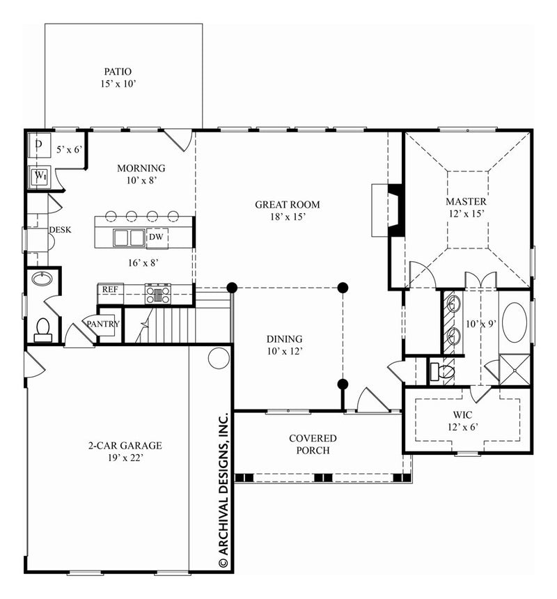 Vidalia first floor, floor plan