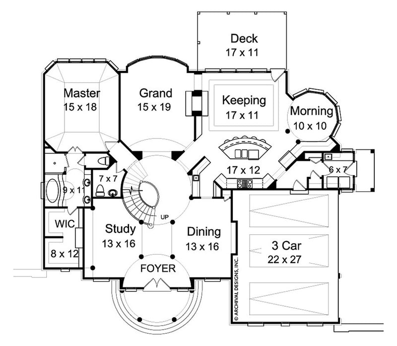 Vienna first floor, floor plan