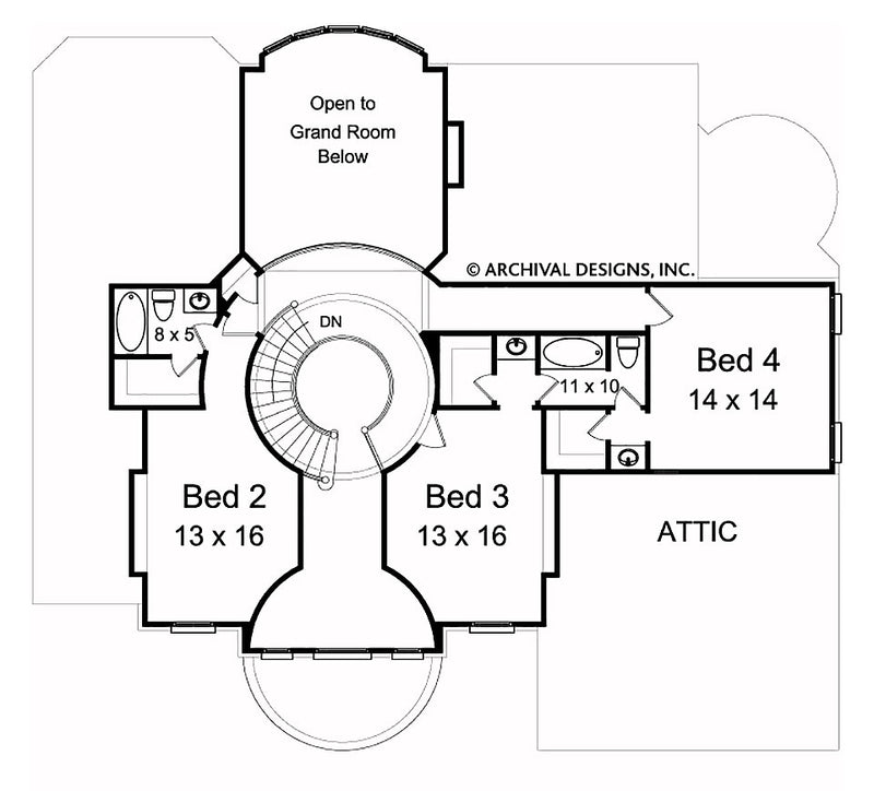 Vienna second floor, floor plan