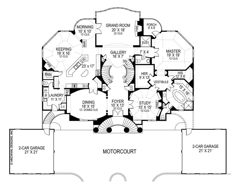 Villa Capri first floor, floor plan