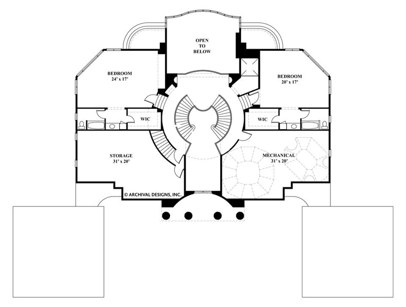 Villa Capri second floor, floor plan