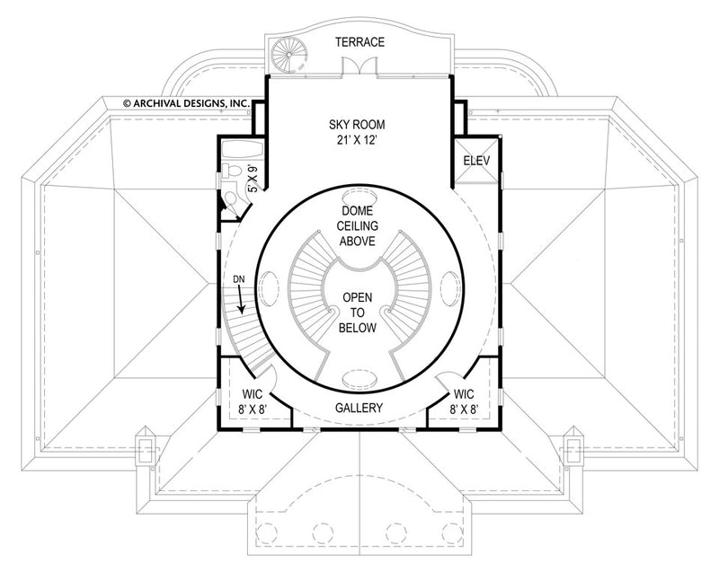 Villa Capri third floor, floor plan