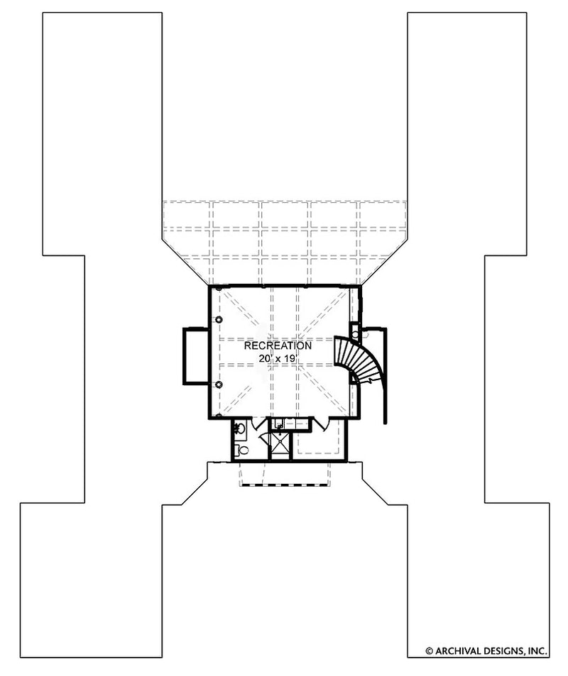 Villa De Saye second floor, floor plan